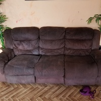 Chocolate brown reclining couch set