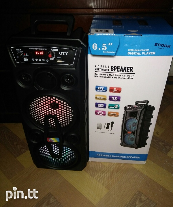 2000W OTY Portable, Bluetooth, Rechargeable Speaker-2