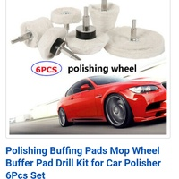 NEW 6pcs CAR POLISHING BUFFING PADS ATTACHMENT DRILL HEADS
