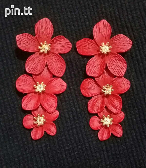 3 tier flower earring-1