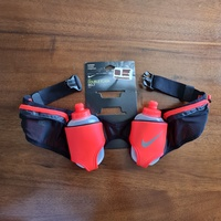 NIKE running double flask belt with water bottles.