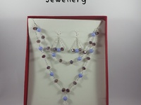 silver plated neclace set