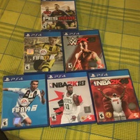 Fifa + Nba2k watch dogs god of war and call of duty combo ps4 games