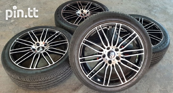 18 inch Black and Silver Rims and Tyres.-2