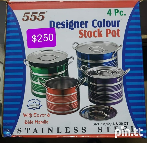 4 PC Stainless Steel Pot Set-2