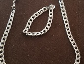 men chain and hand band