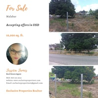 10,000 sq. ft. Commercial Land located in Malabar