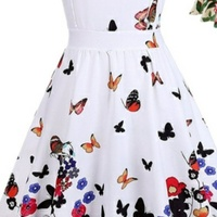 Butterfly kids dress