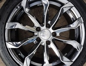 17 inch rims and tyres- black chrome