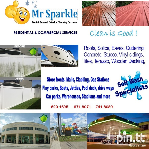 Soft wash cleaning services - Residential , Commercial-3
