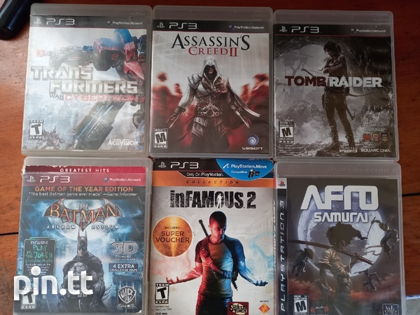PS3 with games, cords-1