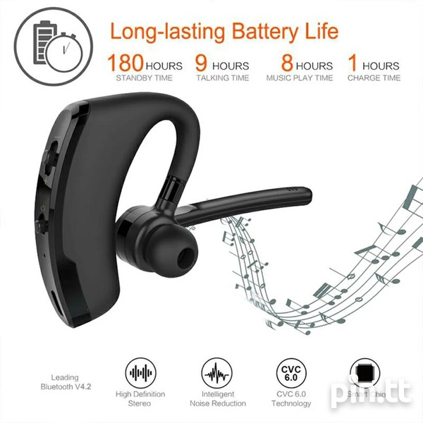 V8 Wireless Stereo Bluetooth Headset Read Specs When Scrolling Pics-7