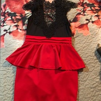 Red And Black Dress Size Small