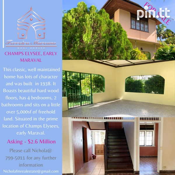 4 BEDROOM CHAMPS ELYSEE, EARLY MARAVAL HOUSE-1