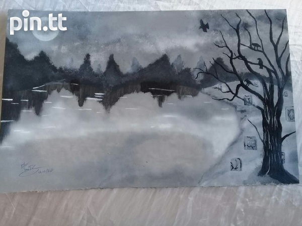 Black and White Acrylic Painting
