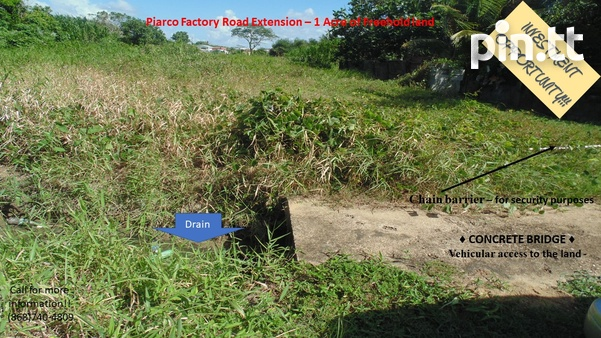 Potential for Condos/Townhouses/Warehouse- Piarco 1 Acre Freehold land-1