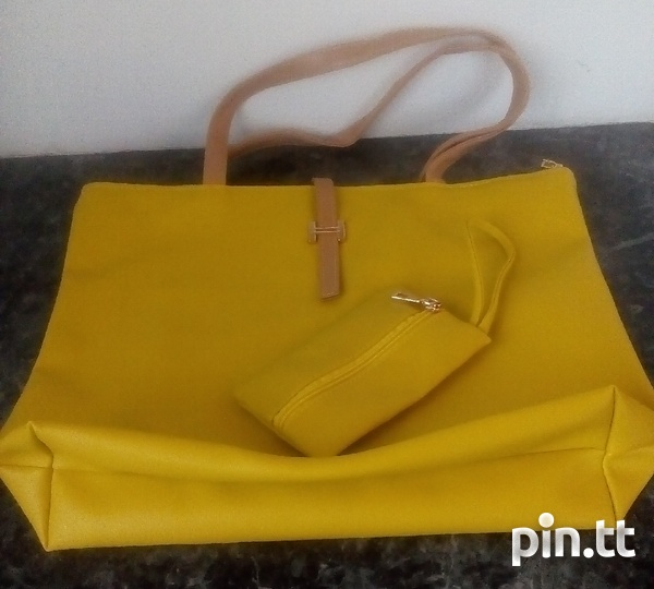 Plain Handle Bags with carrying purse-2