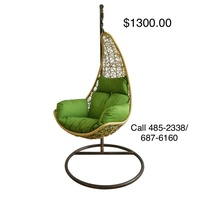 Beautiful swing and lounge chairs for the patio