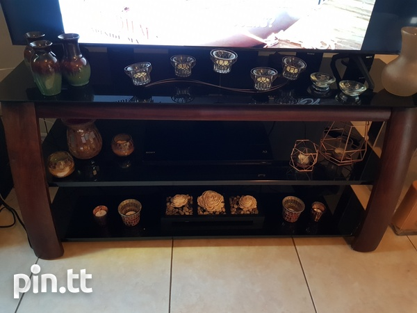 TV stand with shelving and bracket-5