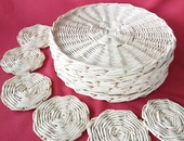 6 piece set table placemats and coasters