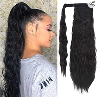 24 inch clip in Ponytail Extension - Wavy Curly