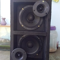 Speakers in box