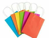 24 Assorted Coloured Paper Gift Bags