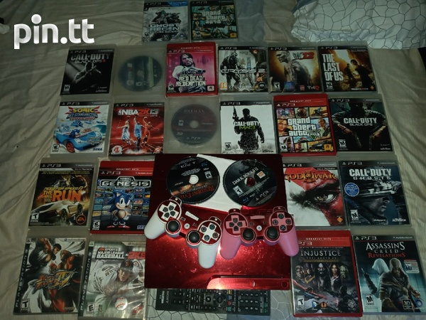 Ps3 with games and controls