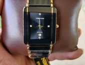 Swiss Sunborn Gold+Black Ceramic Diamond Watch Read Details Below