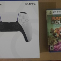 Playstation 5 dualsense controller and Ratchet & Clank game bundle NEW