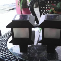 Post or wall mounter solar lights