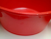 RED LARGE BOWLS
