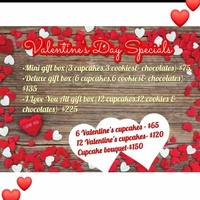 Valentine's Day Cake and Cupcake Specials
