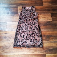 Black and Gold Lace Dress Size 6