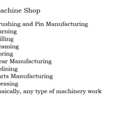 Machine shop work and Hydralics maintenance