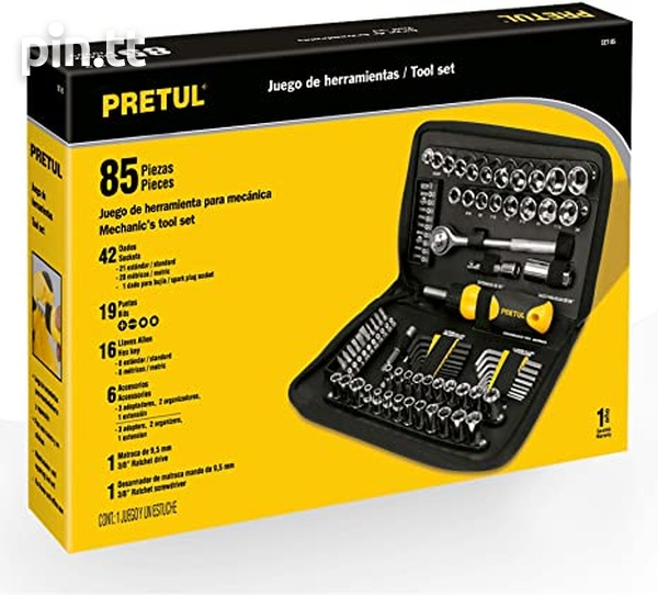 Pretul 85 piece mechanic tool kit-2
