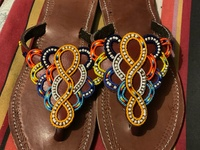 Beaded Tribal Slippers Size 11