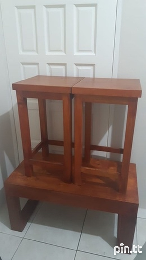 Excellent Deal 4 Pieces Set. TV Stand, Center Table And Side Table.-1