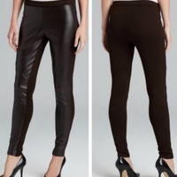 Leather Front Pants