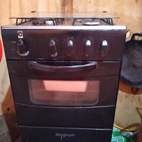 Magnum 20 inch gas stove, Parker 4.5kg twin tub washing machine, Toaster oven.