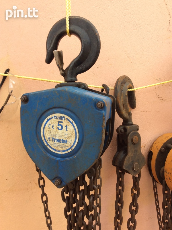 REDUCED 5 TON CHAIN BLOCK HOIST