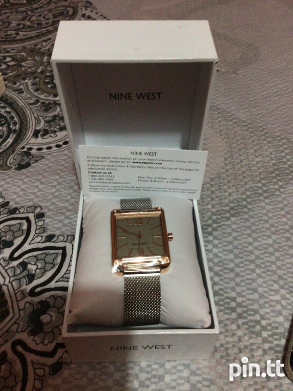 NINE WEST SILVER AND ROSE GOLD WOMEN'S WATCH-1