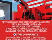 Palfinger, Hiab, PM and Fassi Cranes