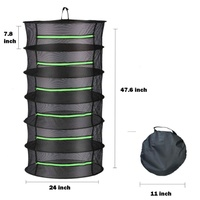 Large 6 Tier Herb Drying Rack with trimmers