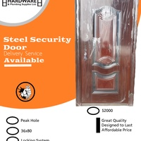Steel Door Complete With Frame, Locking System and Peep Hole