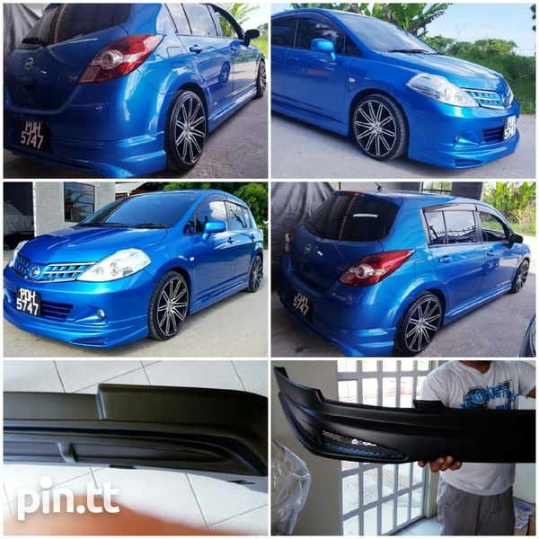 2008 - 2012 Nissan Tiida Hatchback Body Kit-3