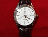 Brown Leather Band Rolex Cellini Watch