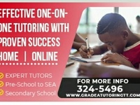 Professional one-on-one tutoring