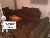 Splash of Brown 3 pc Sofa Set