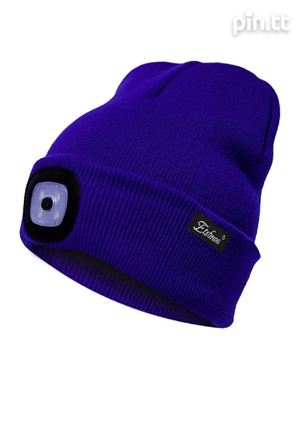 New beanie hats with removable LED rechargeable light-1